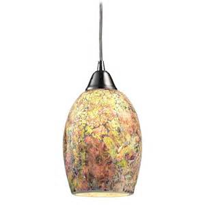 modern mini pendant light with multi color glass 73021 1