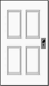 Door clipart - Pencil and in color door clipart