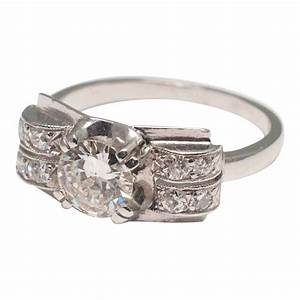 Art Deco Diamond and Platinum Ring - Plaza Jewellery