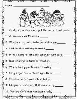 worksheets for 2nd grade free end punctuation