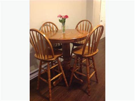 oak bar table and 4 swivel chairs central nanaimo nanaimo
