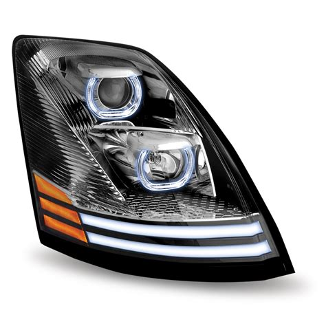 Led Headlights by Volvo Vnl Chrome Halogen Headlight With Led Passenger