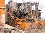 Detroit's Abandoned Houses Painted Tiggerific Orange ...