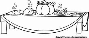 First Thanksgiving Clipart Black And White - ClipartXtras