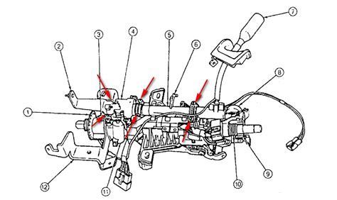 ford windstar dash removal diagram column shiffter