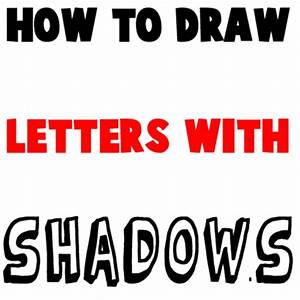 How to draw 3d letters with shadows following patterns for How to draw lettering book
