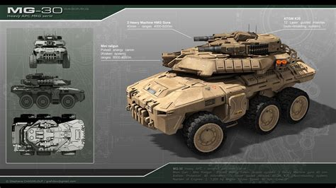 artstation scifi apc mg 30 stephane chasseloup