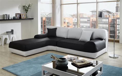 Sam® Ecksofa Sofa Schwarz Weiß Couch Impulso 220 X 260 Cm