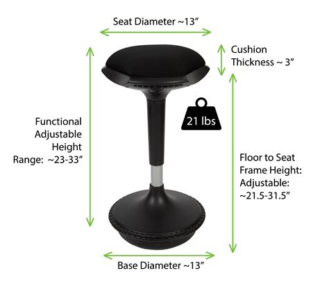 best stool for standing desk amazon com wobble stool adjustable height active sitting