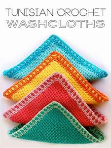 Tunisian Crochet Washcloths My Poppet Makes
