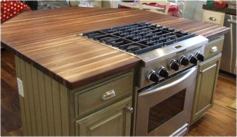 kitchen island tops will butcher block work on the island with a cooktop and a