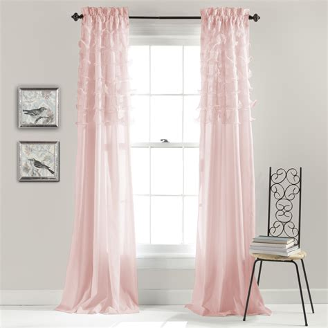 Kmart Pink Sheer Curtains by Lush Decor Avery Pink Window Curtains Pairs