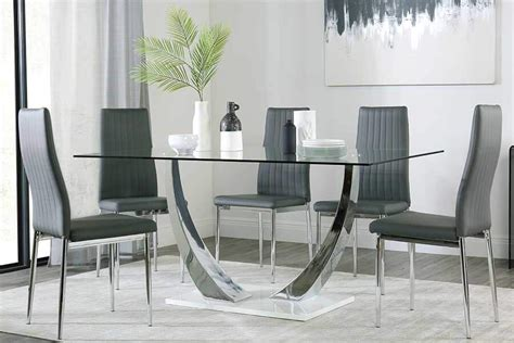 Glass Dining Table by Glass Dining Table Chairs Glass Dining Sets