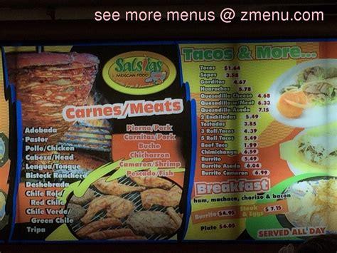 menu cuisine az menu of la salsitas restaurant avondale arizona 85323 zmenu