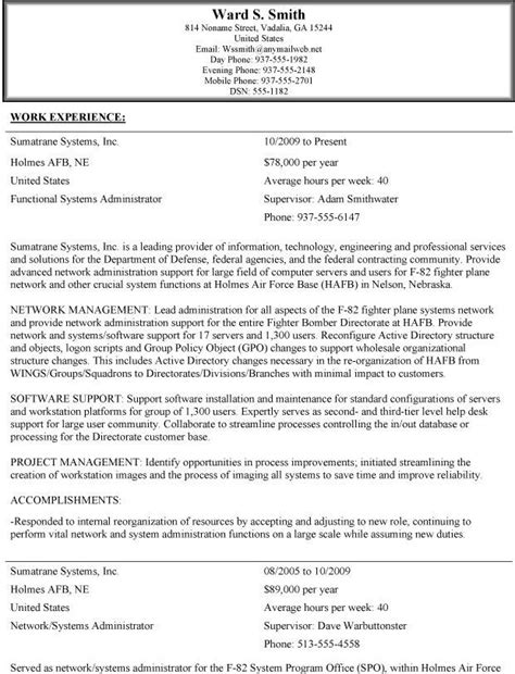 usa jobs job resume format job resume examples
