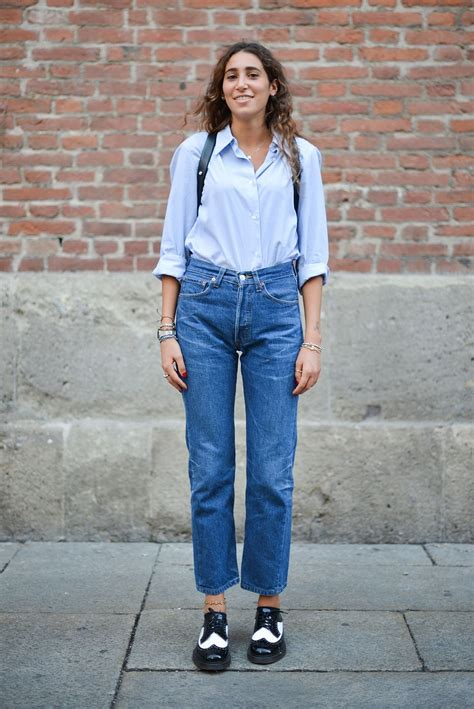15 New Ways to Wear Denim for Fall From the Streets of Milan Fashion Week | Glamour