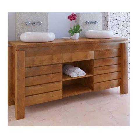 meuble salle de bain bois exotique pas cher de conception de maison