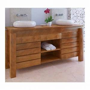 meuble bas de salle de bain teck legian With meuble bain teck
