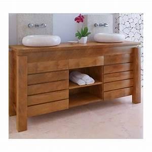 Meuble De Salle De Bain En Teck : meuble bas de salle de bain teck l gian ~ Edinachiropracticcenter.com Idées de Décoration