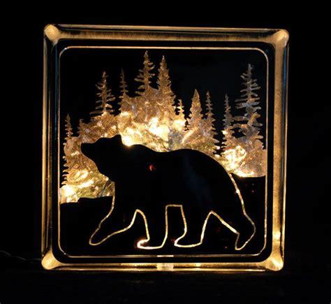 bear glass block night light christmas crafts
