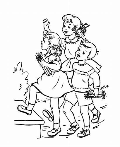 Coloring Pages Friendship Friend Party Birthday Sheets