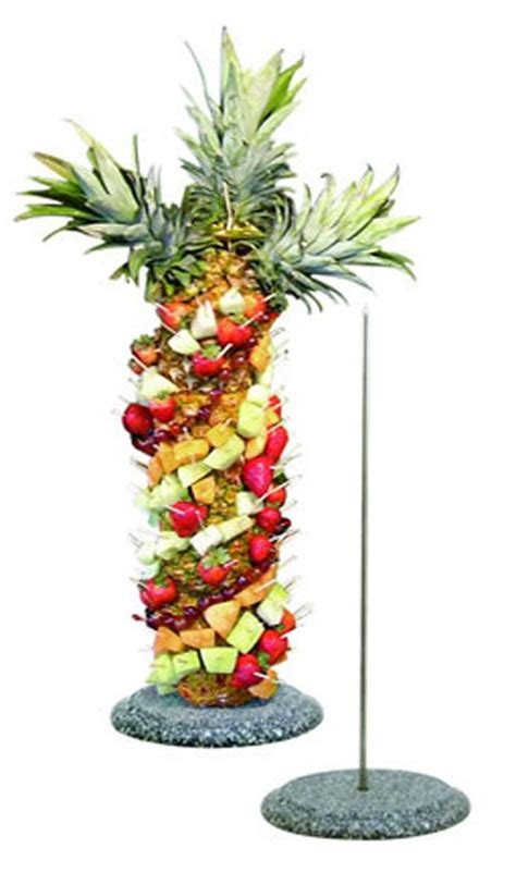 tree tropical fruit display pic  pineapple palm tree