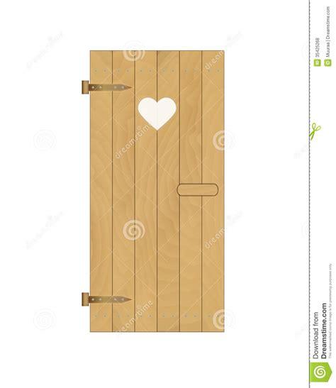 la porte da cote porta di legno della latrina con cuore fotografie stock libere da diritti immagine 35425268