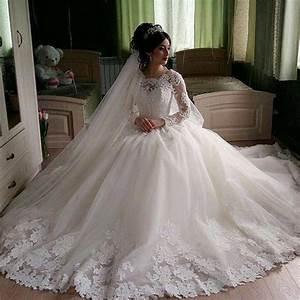 aliexpresscom buy robe de mariee full long sleeve lace With muslim wedding dresses 2017