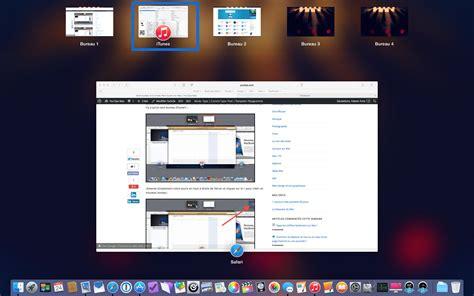 multi bureau multi bureau et le mode plein écran sur mac7