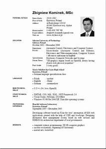 8 curriculum vitae english example pdf theorynpractice With cv examples pdf