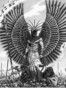 of the aztec warrior knights the eagle warrior and the jaguar warrior  Aztec Eagle Warrior Drawing