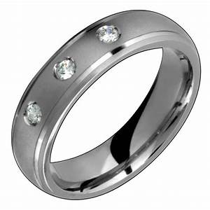 Mens titanium ring with diamond engagement wedding band for Diamond wedding ring for him