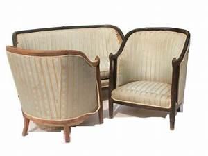 Canapé Art Déco : un canap deux fauteuils 1 sofa two armchairs original ~ Dode.kayakingforconservation.com Idées de Décoration