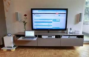 Fernseher Wandmontage Höhe : tv wand kabel unterputz m bel design idee f r sie ~ Frokenaadalensverden.com Haus und Dekorationen