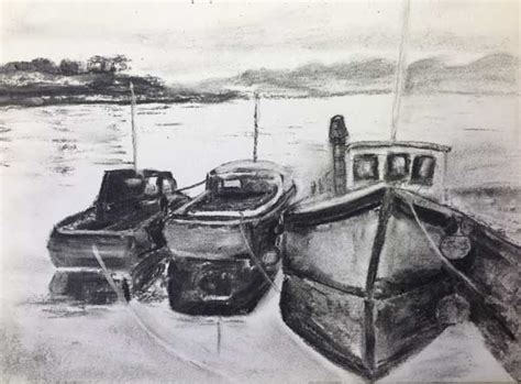 Boat Names Ending In N by Drawing Class 1st May Charcoal Pencil Pen And Wash