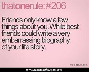 Quotes On Best Friends Being There For You: To my friends ...