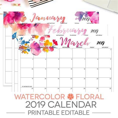 printable calendar editable month letter size etsy