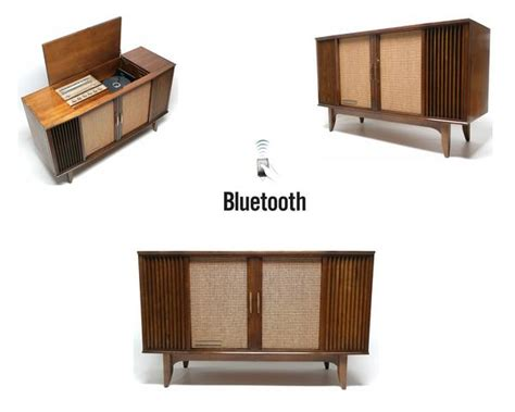 mid century modern stereo console by motorola the