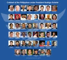 let s get to the philippine cabinet