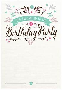 flat floral free printable birthday invitation template With invitiation template