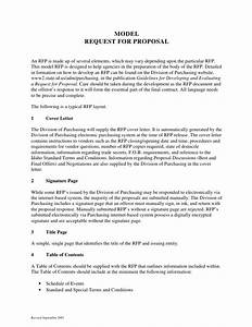 sample request for proposal format With procurement document template
