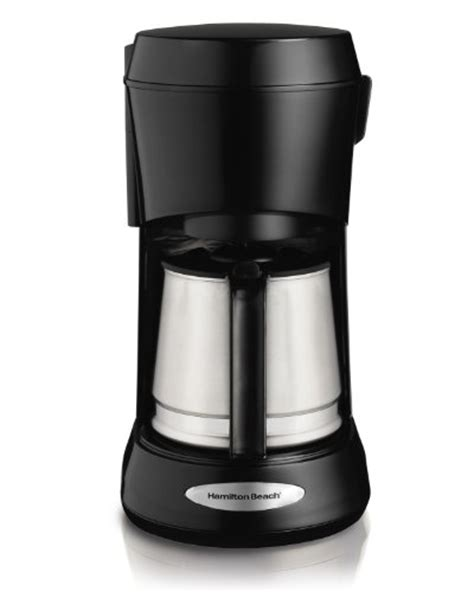 coffee maker with stainless carafe hamilton 5 cup coffee maker with stainless carafe 8241