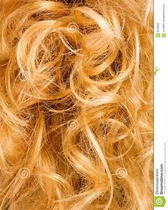 Blonde Curly Hair Background Royalty Free Stock Photos