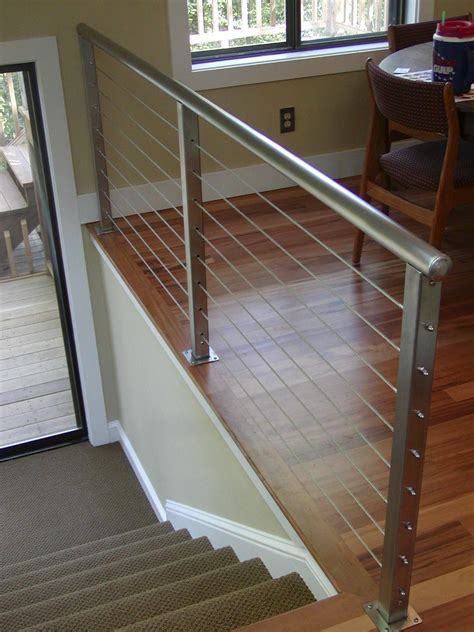 unique bathroom designs cable railing systems with modern wire deck cable railing