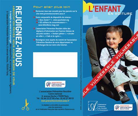 prevention routiere siege auto sécurité routière brochure prévention routière