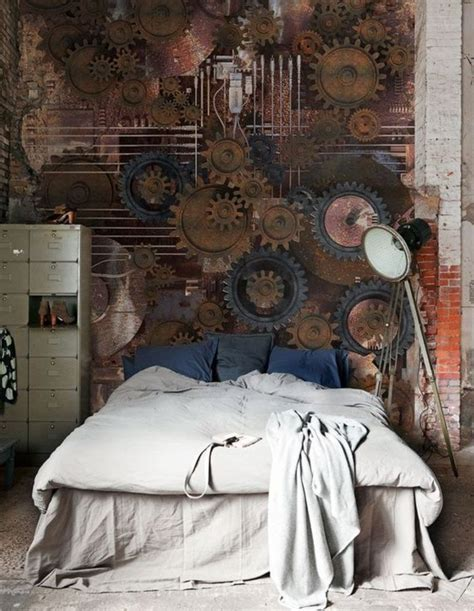 simple ways  add steampunk style   bedroom