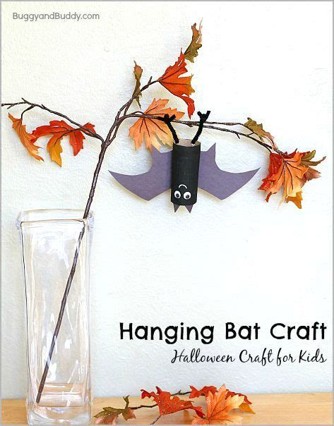 Toilet Paper Roll Bat Wing Template by Hanging Bat Craft For Kids With Bat Wing Template Bat