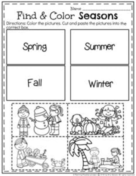 december preschool worksheets planning playtime 679 | December Preschool Worksheets Find and Color Seasons. 232x300