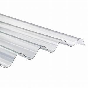 Onduline Plaque ondulée transparente polycarbonate 1,52 / 1,75 / 2 m x 0,92 m grandes ondes