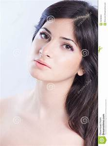 Pretty, Woman, With, Long, Brown, Hair, Stock, Images